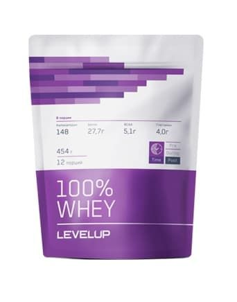 LevelUp 100% Whey 454g фото